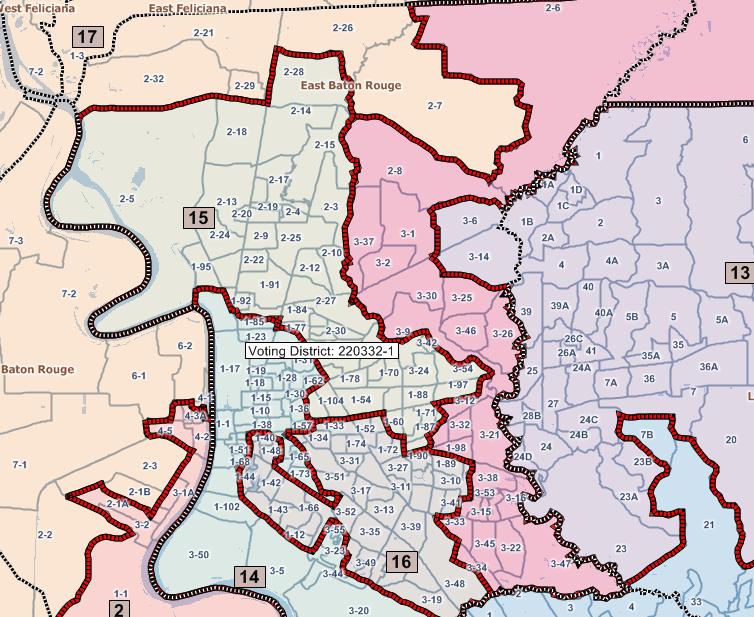 New Louisiana Senate Maps Baton Rouge and New Orleans JMC Enterprises of