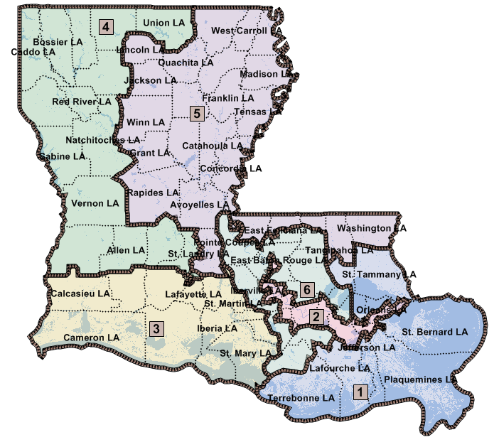Louisiana Congressional District Maps  JMC Enterprises Of