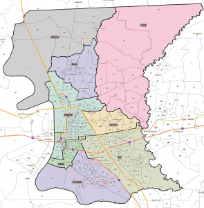 Regions of East Baton Rouge Parish