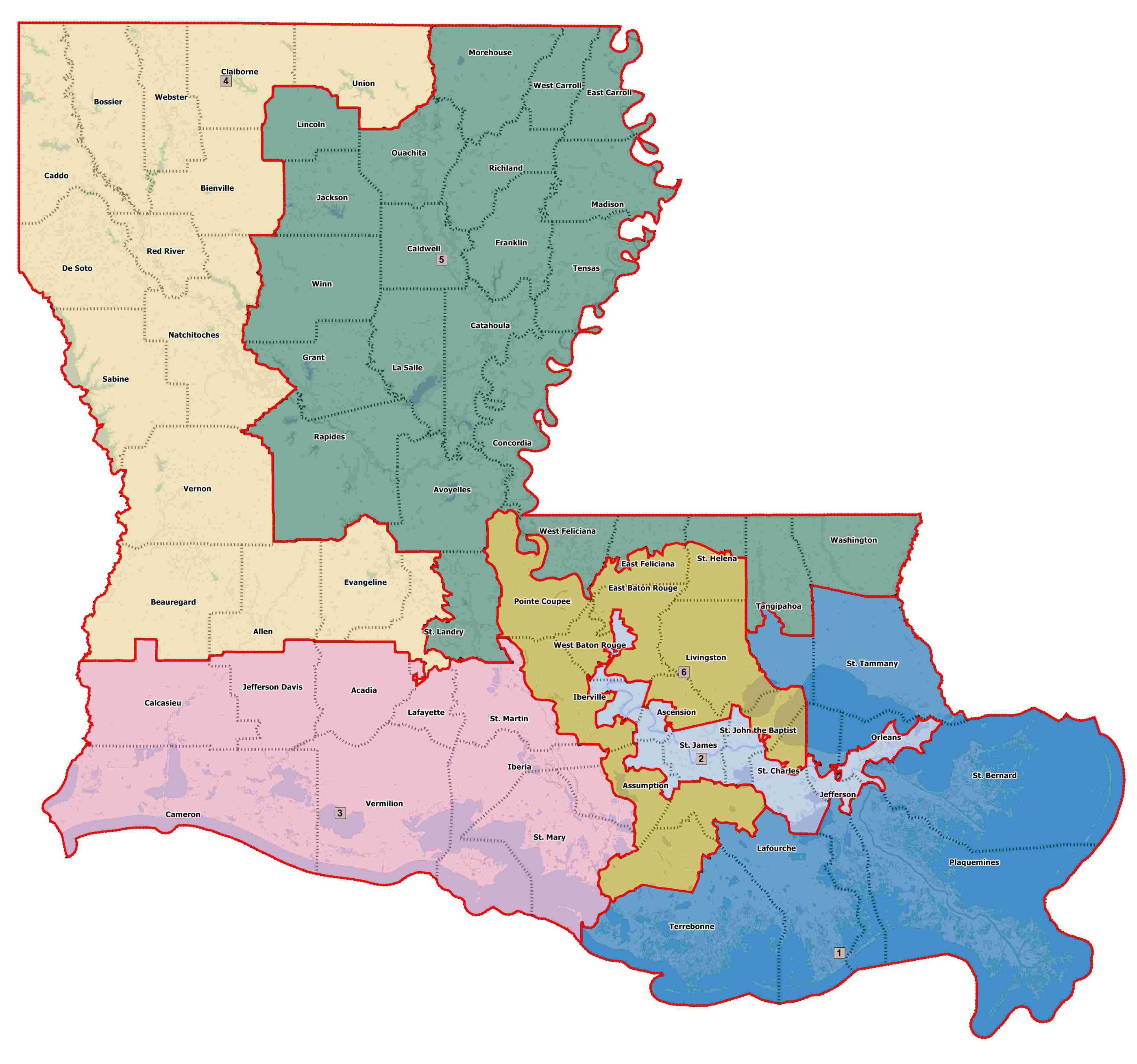 Current Congressional District Map
