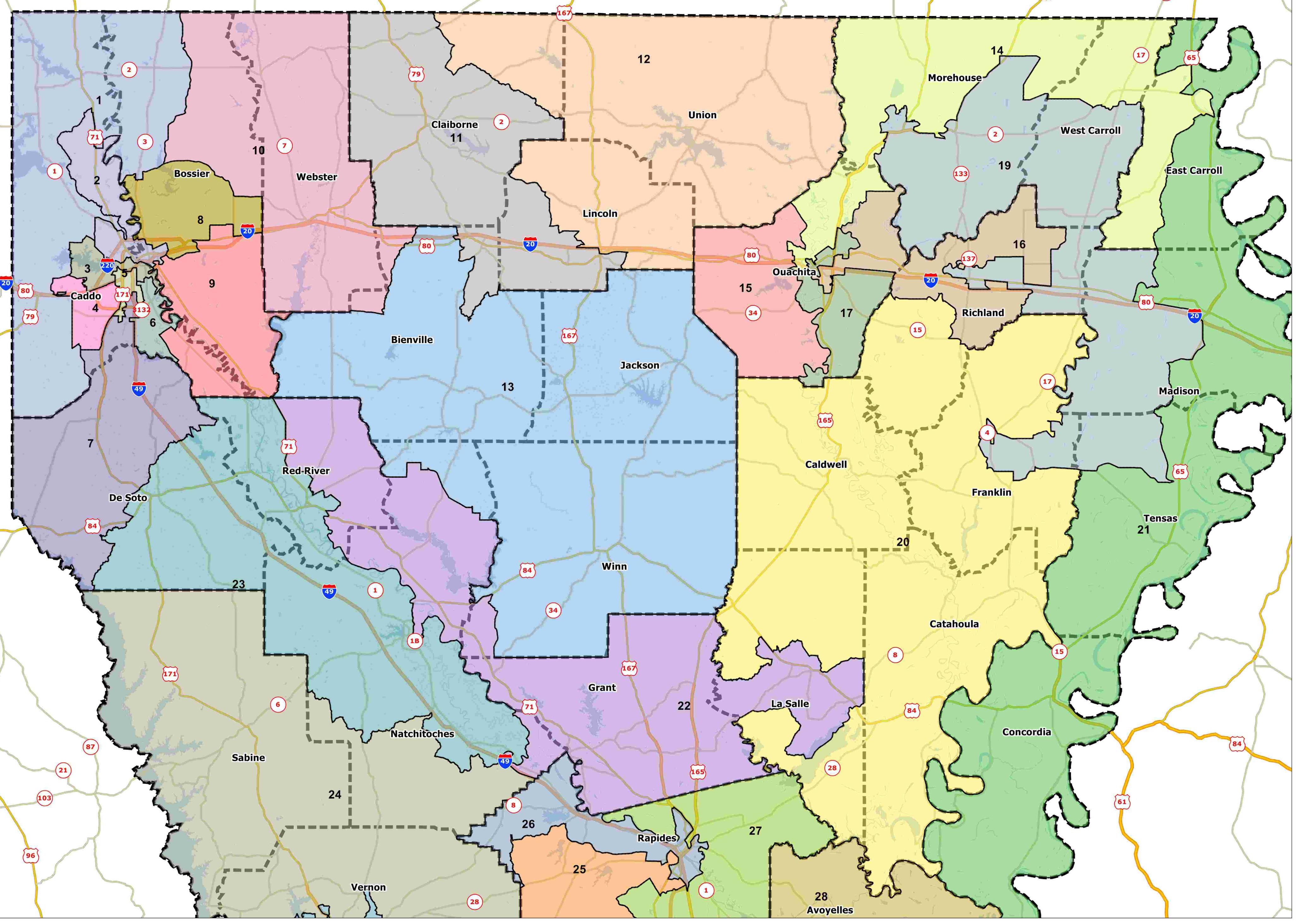 Fantasy Redistricting Part IV B Louisiana House Of - North louisiana map