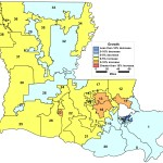 Demographic changes to Louisiana legislative districts, 2010-2014