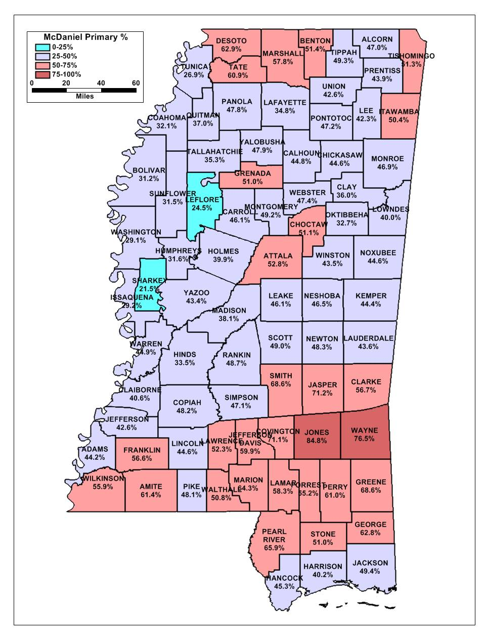 Mississippi Gop Senate Primary By County