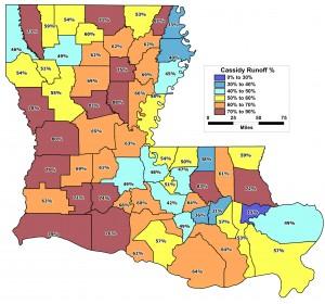 2014 Senate runoff by parish